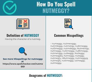 Correct spelling for Nutmeggy