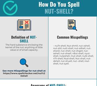 Correct spelling for Nut-shell