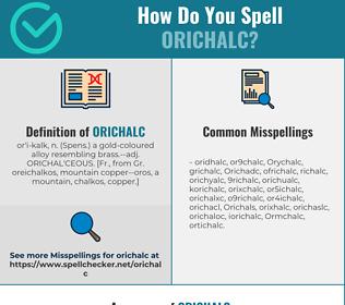 Correct spelling for Orichalc