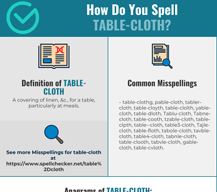 Correct spelling for Table-cloth