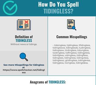 Correct spelling for Tidingless