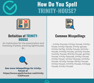 Correct spelling for Trinity-house