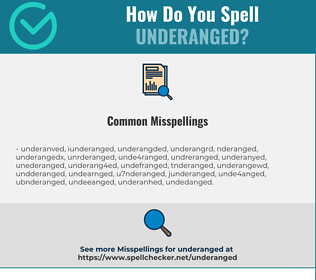 Correct spelling for Underanged