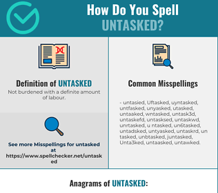 Correct spelling for Untasked