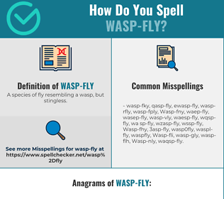 Correct spelling for Wasp-fly