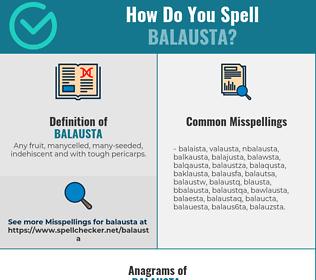 Correct spelling for balausta