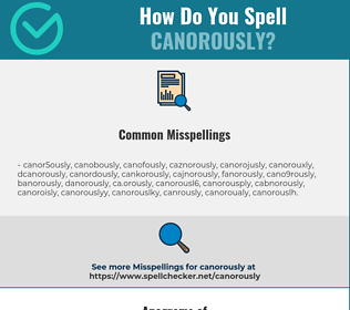 Correct spelling for canorously