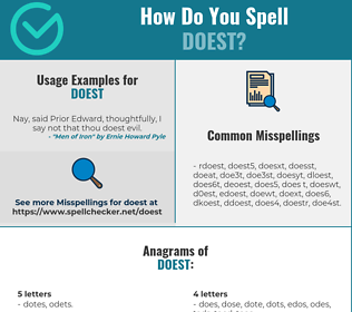 Correct spelling for doest