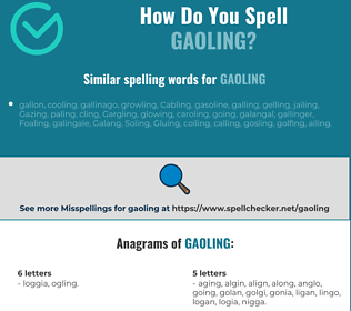 Correct spelling for gaoling
