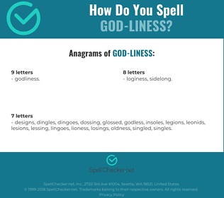 Correct spelling for god-liness