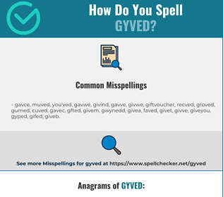 Correct spelling for gyved