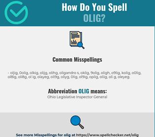 Correct spelling for olig