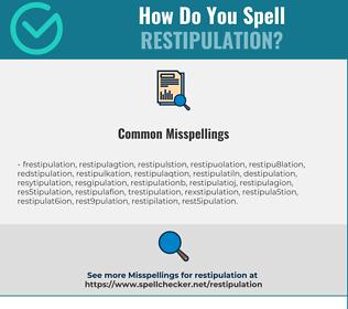 Correct spelling for restipulation