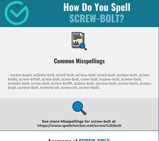 Correct spelling for screw-bolt