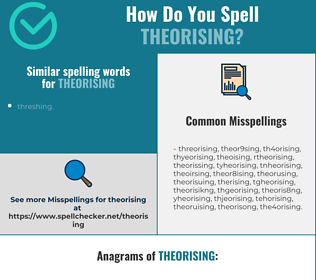 Correct spelling for theorising