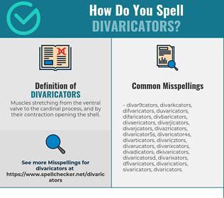 Correct spelling for divaricators