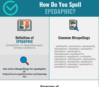 Correct spelling for epedaphic