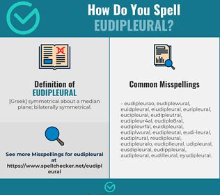 Correct spelling for eudipleural