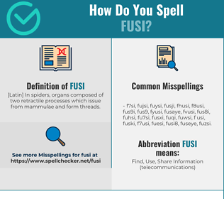 Correct spelling for fusi