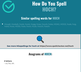 Correct spelling for hoch