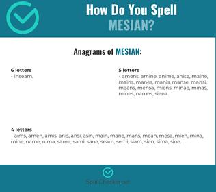 Correct spelling for mesian