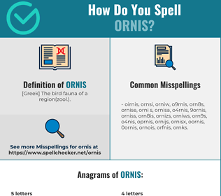 Correct spelling for ornis