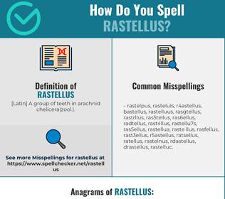Correct spelling for rastellus