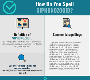 Correct spelling for siphonozooid