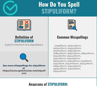 Correct spelling for stipuliform