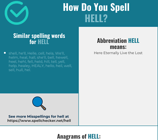 Correct spelling for Hell