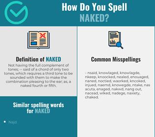 Correct spelling for naked