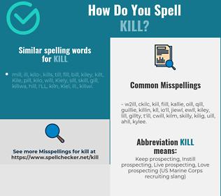 Correct spelling for kill