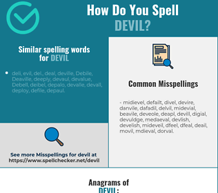 Correct spelling for devil