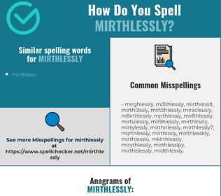 Correct spelling for mirthlessly