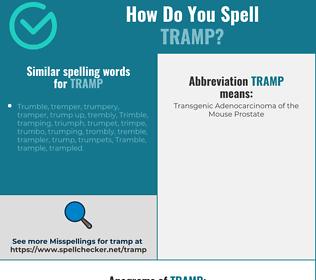 Correct spelling for tramp