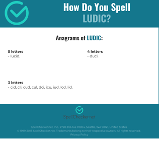 Correct spelling for ludic