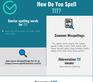 Correct spelling for tit
