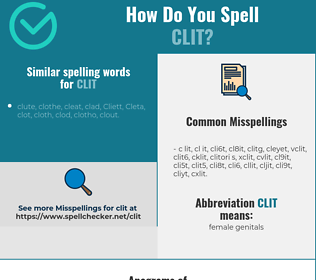 Correct spelling for clit
