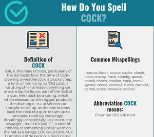 Correct spelling for cock