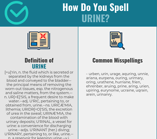 Correct spelling for urine