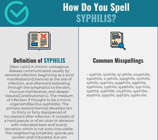 Correct spelling for syphilis