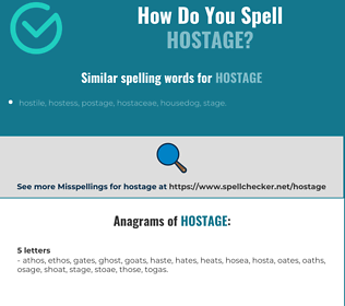 Correct spelling for hostage