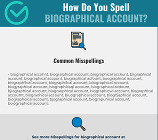 Correct spelling for biographical account