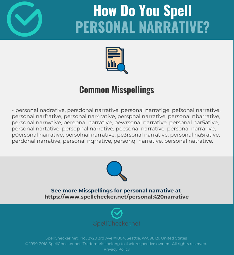 Correct spelling for personal narrative [Infographic