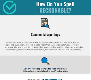 Correct spelling for reckonable