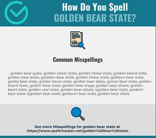 Correct spelling for Golden Bear State