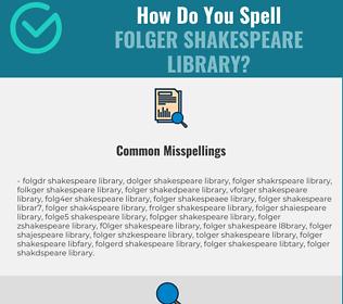 Correct spelling for Folger Shakespeare Library