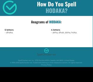 Correct spelling for Hodaka