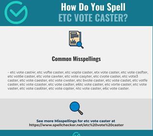 Correct spelling for etc vote caster