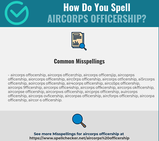 Correct spelling for aircorps officership